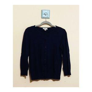 Loft navy blue cardigan